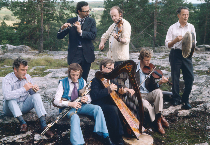 The Chieftains in Finland in 1974 (photo Moloney Archives)