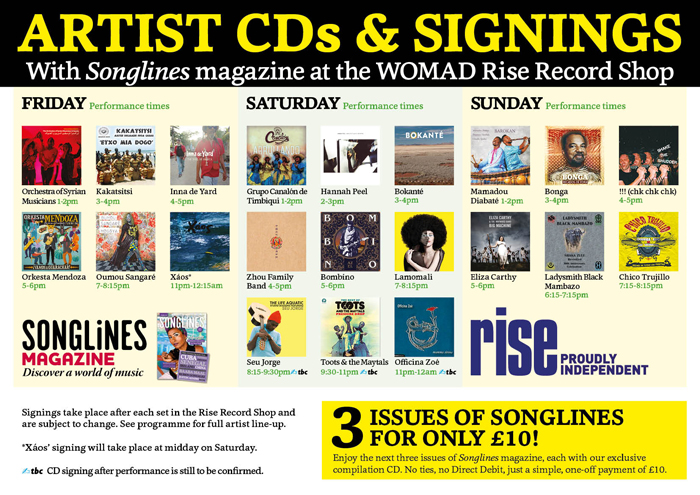 SonglinesWOMAD16_CD-signing-schedules_RiseShop